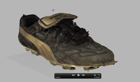 3D scan of boot of sporting hero