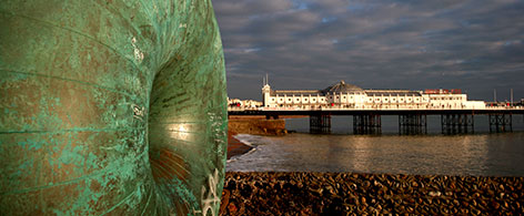 Brighton pier and public sculpture