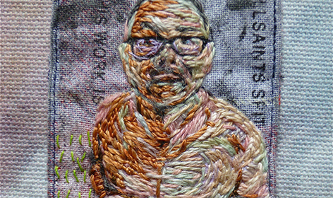 Gavin Fry embroidered nude