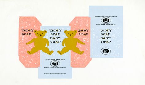 'Packaging for Teddy Bear Baby Soap'.