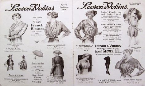 Blouses advertised in 1914. Vokins Archive, University of Brighton Design Archives