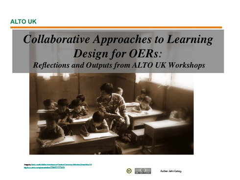 Collaborative Approaches to Learning Design presentation