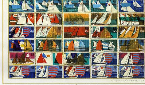 Preliminary designs for Sailing stamps. 1975