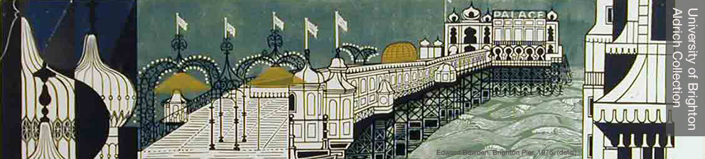 Edward Bawden, graphic interpretation of Brighton Pier, 1975, courtesy of the University of Brighton Aldrich Collection