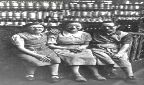 Group of women workers in a cotton factory, 1935.