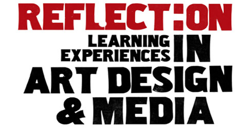 Reflect:on learning experiences in art, design and media logo