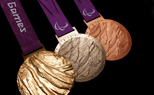 Paralympic medals - Lin Cheung, designer and graduate of University of Brighton
