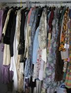 Rail of clothes