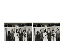 The Wedding. Family Photography. Images that take place. Series of five 3D photographs