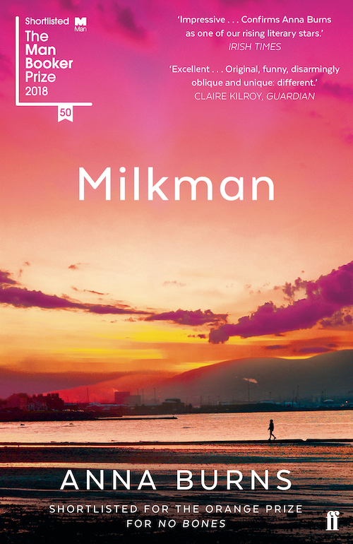 Book cover of the novel Milkman by Anna Burns