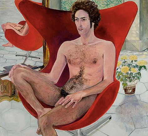 Sylvia Sleigh - Paul Rosano in Jacobson Chair 1971