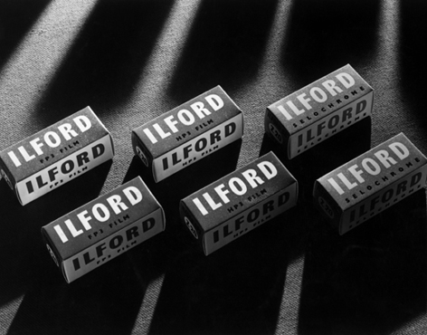 Ilford film boxes