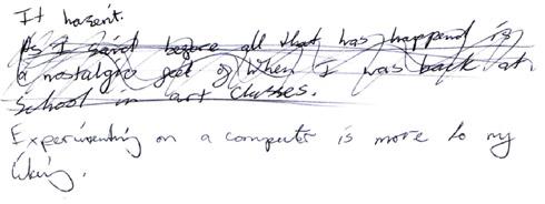 student A – Q5 written response