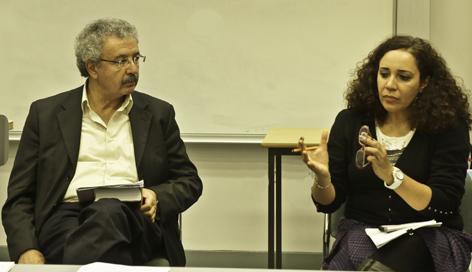 Ibrahim Nasrallah with Dr Dalia Said Mostafa