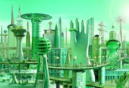 Rawle's Emerald City illustration for Wizard of Oz