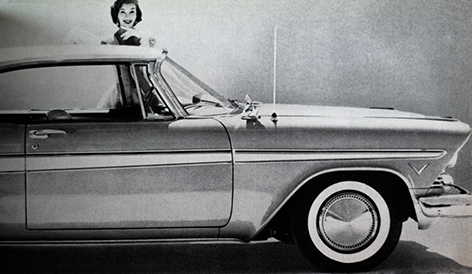 detail of an article from Industrial Design about contemporary American car design