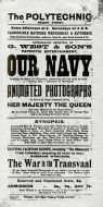 Playbill for 'Our Navy'