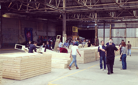 2014 Architecture and Interiors degree show in Circus Street