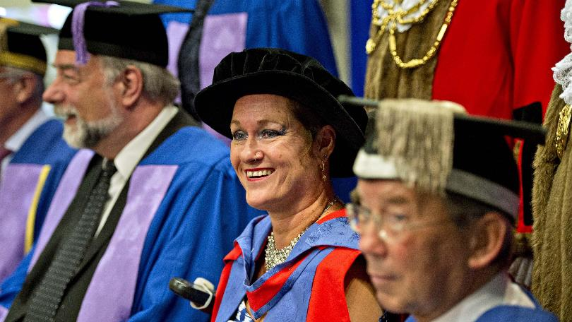 University of Brighton graduate Alison Lapper was awarded an honourary doctorate at the Brighton Dome