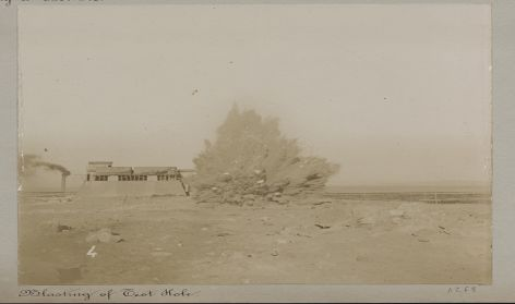 Blasting a Test Hole, Oficina Alianza and Port of Iquique 1899,