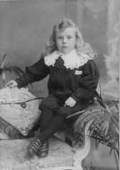 Boy aged 4 in blouse suit, c1895