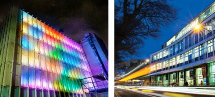 Ryerson University Image Arts Building (left);