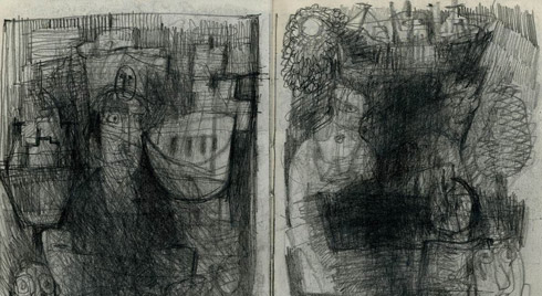 Section from untitled drawing by Robert Clarke