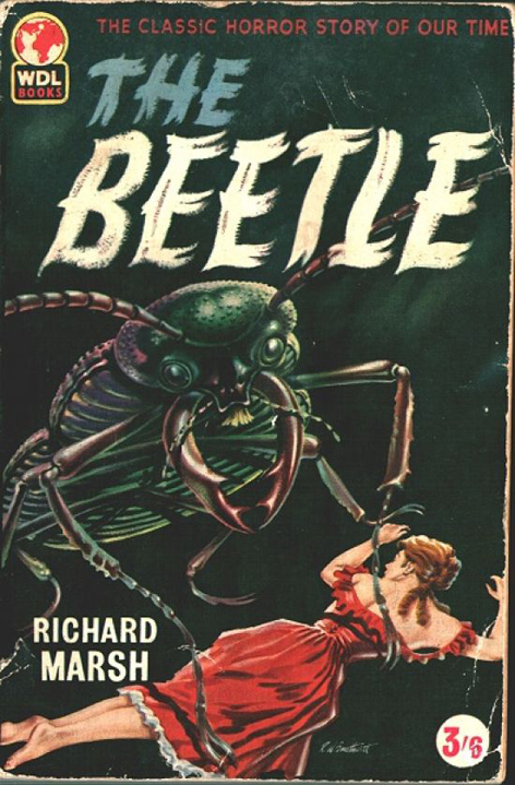 Front cover of Richard Marsh novel The Beetle