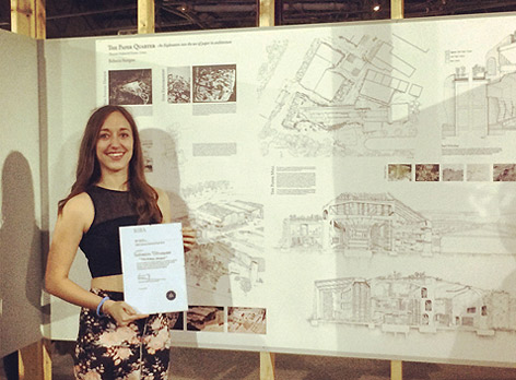 Rebecca Sturgess, Architecture student at the University of Brighton