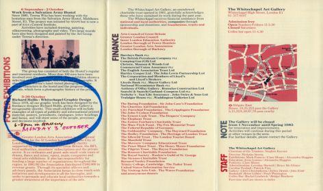 Whitechapel programme