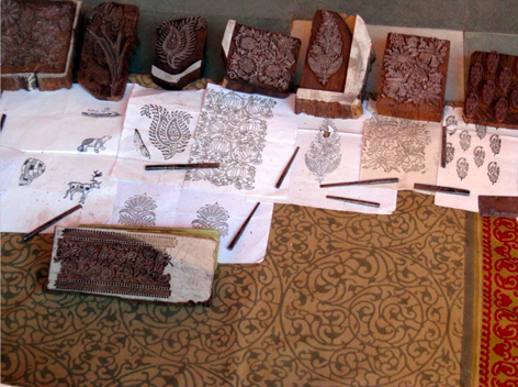 Traditional Indian block printing