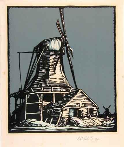 Windmill by EA Sallis Benney