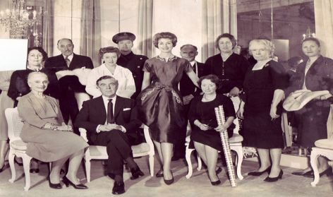 Norman Hartnell & staff c1958.
