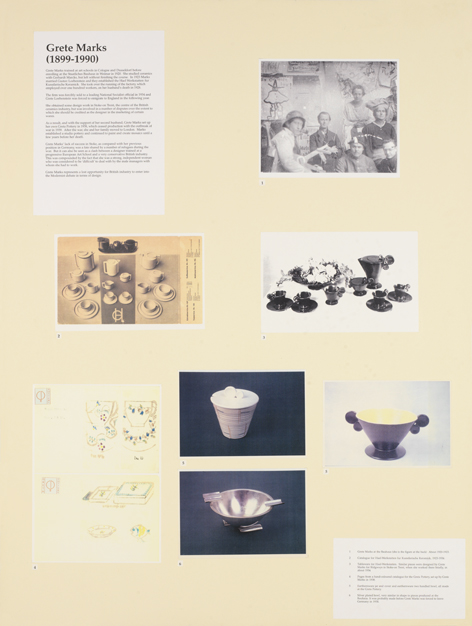 Grete Marks, Jill Seddon, Women Designers, University of Brighton Faculty of Arts