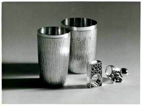 Gerald Benney silverware, University of Brighton Design Archives