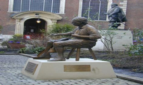 Cordwainer sculpture