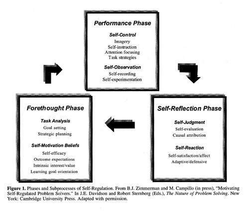 Phases and subprocesses of Self Regulation: Zimmerman and Campillo