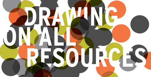 section of Logo for Drawing on All Resources, designed by compoundEye