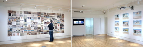 installation of works in Birkbeck gallery