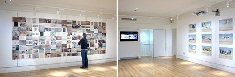 installation of works in Birkbeck gallery