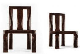 Photo of Neal's Queen Anne Chair from the 'Cut and Groove' series