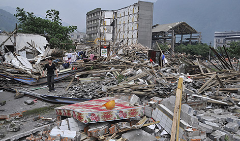 Aftermath of earthquake