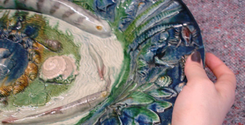 Section from figure 4: Ceramics Handling Session V&A museum 2011: the Palissy Dish