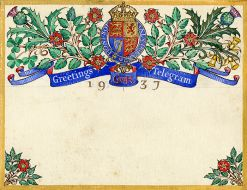 Coronation greetings telegram
