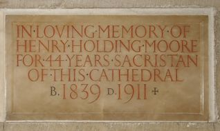 Eric Gill Inscription for Henry Holding Moore 1923