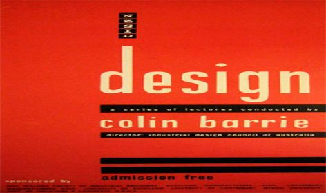 New Zealand Society of Industrial Design poster 'Design: a series of lectures conducted by Colin Barrie', unknown designer, [1962], 