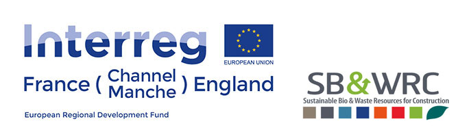 Logos for Interreg and Sustainable Bio and Waste Resources for Construction