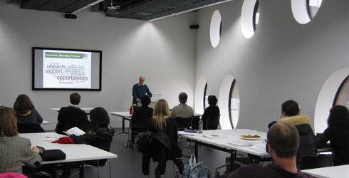 Photo: Jenny Embleton, Einar Thorsen presentation at Ravensbourne