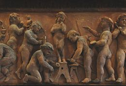 Terracotta panel from original Brighton School of Art