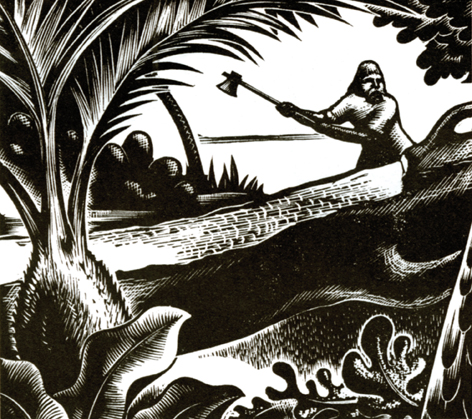 Illustration from Robinson Crusoe